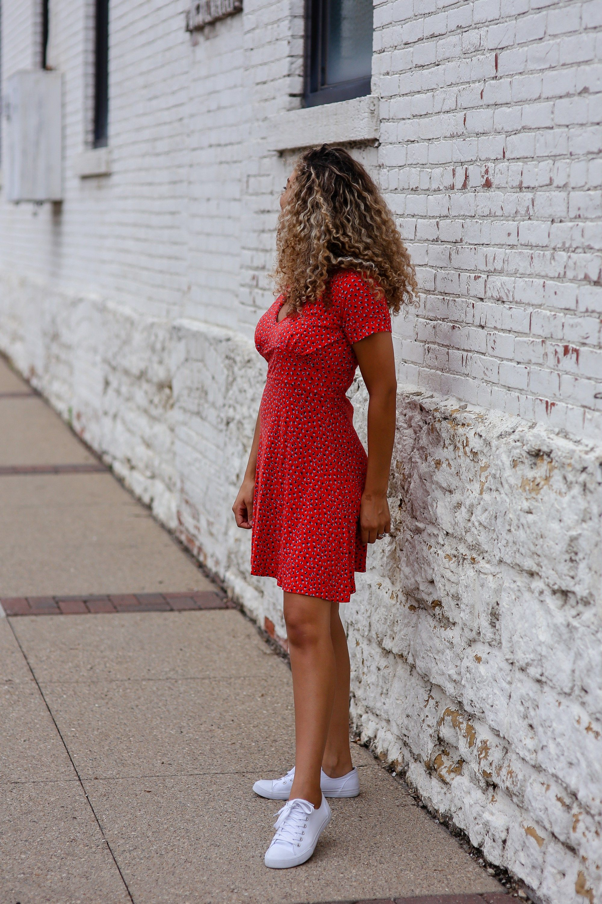 434b247fc9f8 red dress and sneakers summer outfit summer fashion   summer outfit ideas    fashion   style   outfit formula
