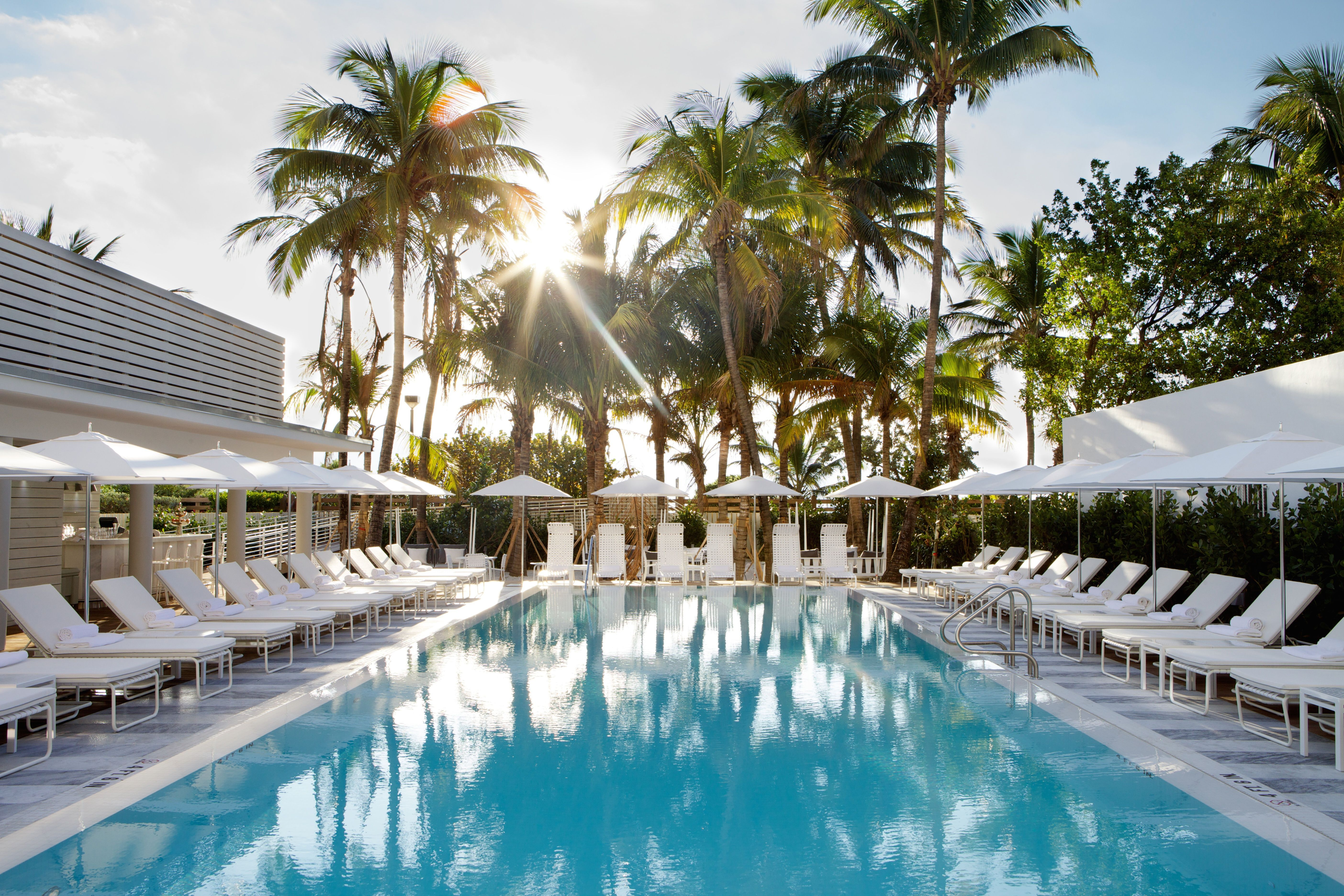 Relax By The Poolside In A Cabana At Metropolitan By Como Miami