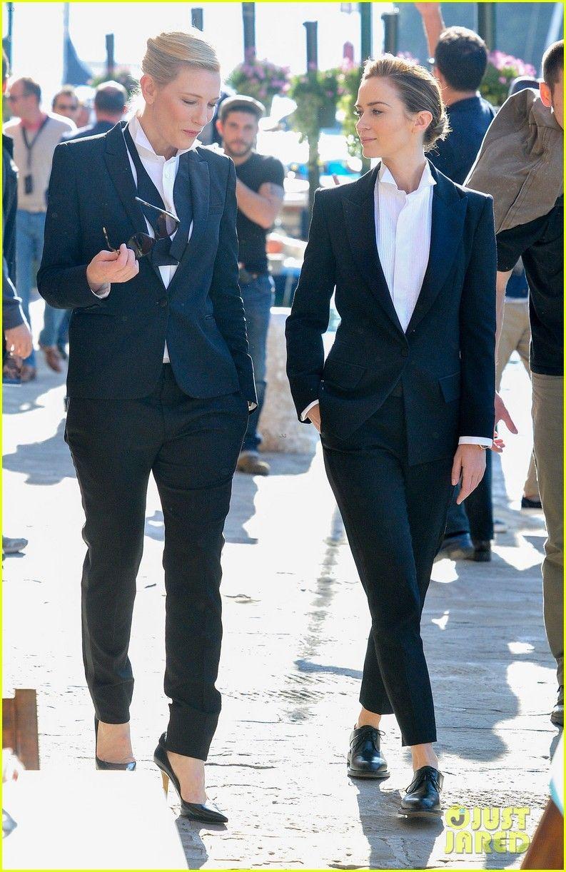 Emily Blunt Cate Blanchett Film A Watch Commercial In Italy Werkkledij Zakelijke Kleding Kleding