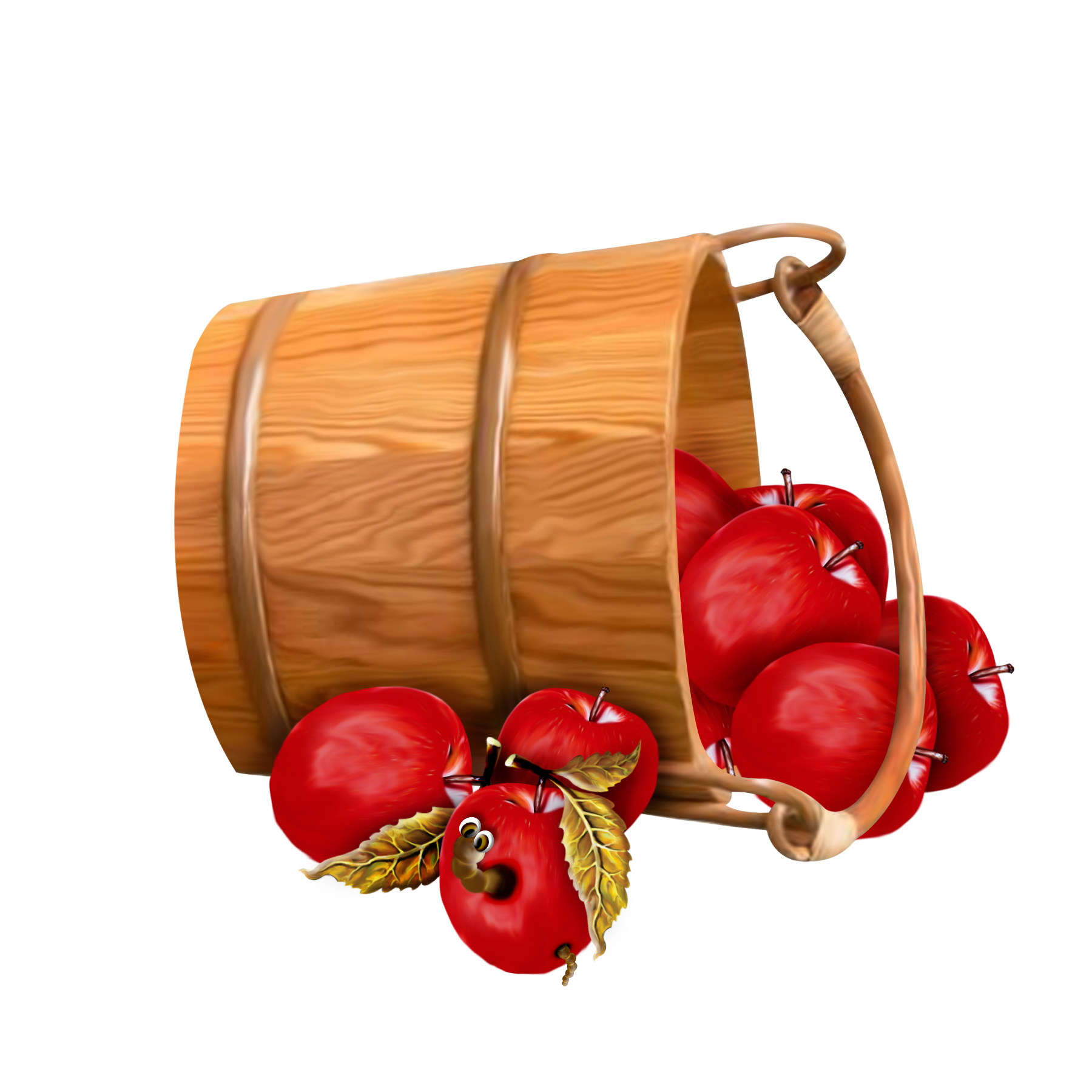 Bucket with Apples Transparent Clipart | AppleCart | Pinterest ...