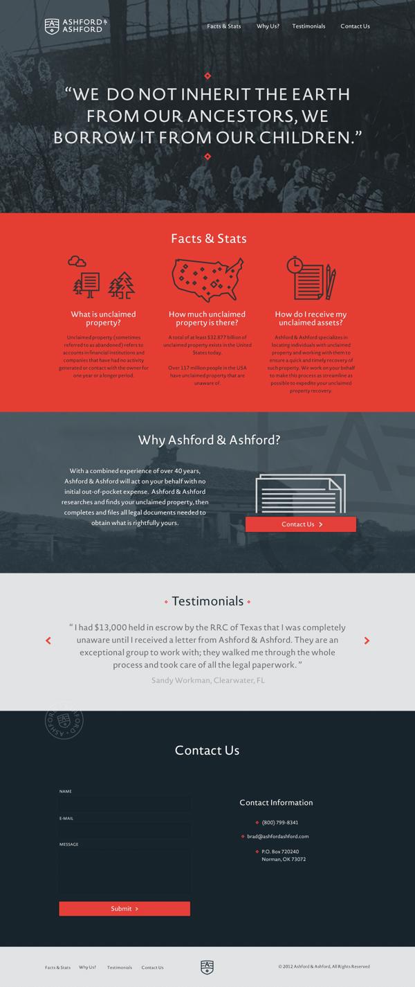 Ashford Ashford By Joel Owen Schierloh Via Behance Lawyer Website Design Corporate Website Design Lawyer Website