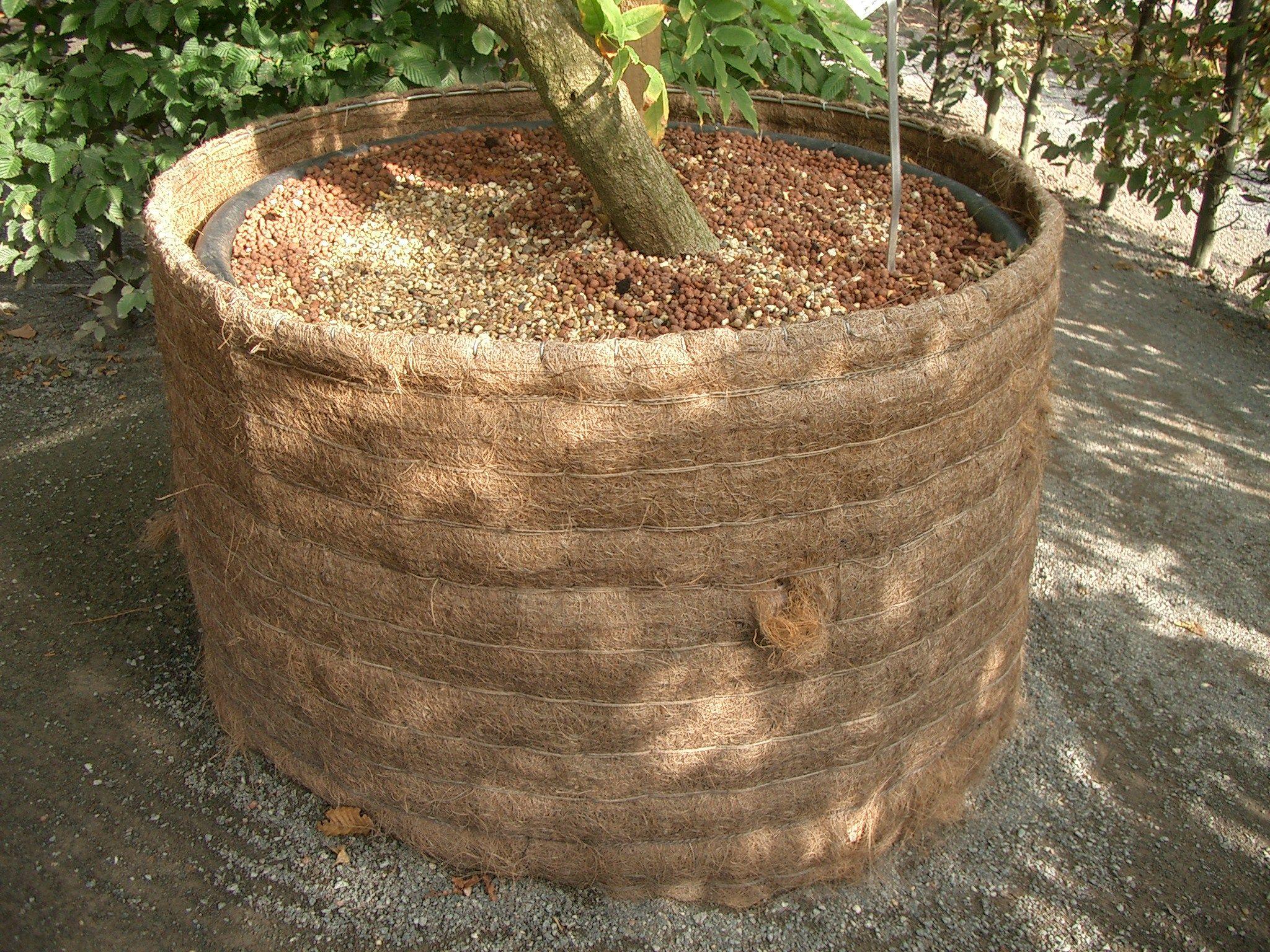 Plastik Mortelkubel Mit Kokosummantelung Leicht Garten