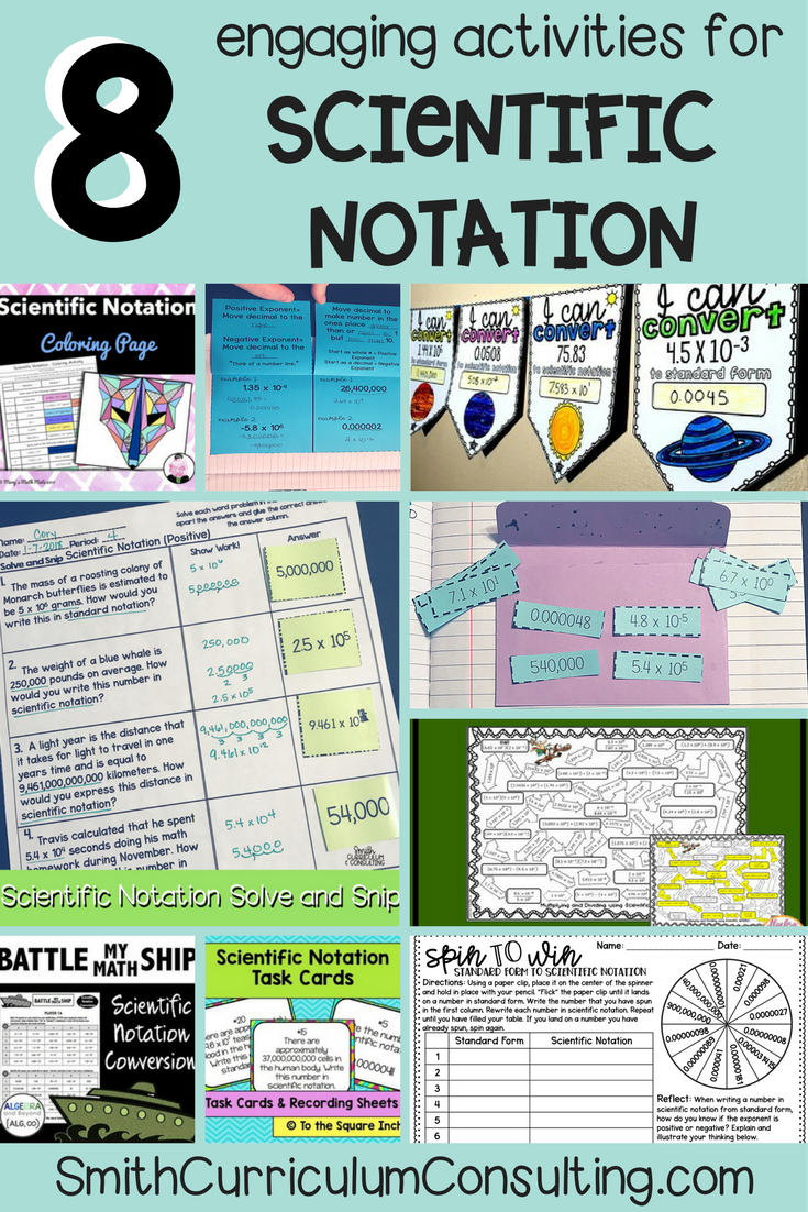8 Engaging Activities for Scientific Notation | Pinterest ...