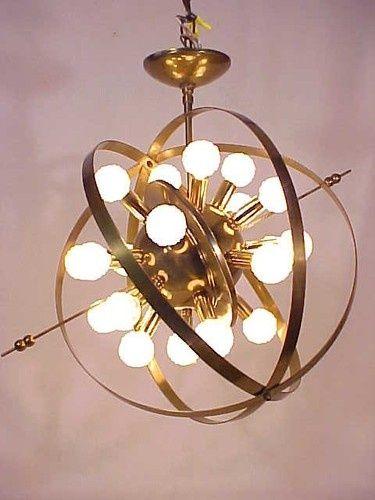 1950\'s Mid Century Sputnik Atomic Space Age Chandelier 20 Arm ...