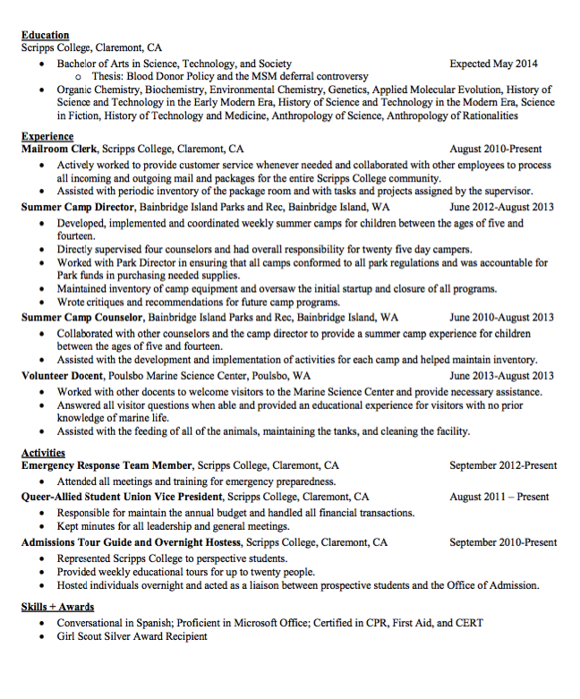 Sample Mailroom Clerk Resume  HttpExampleresumecvOrgSample