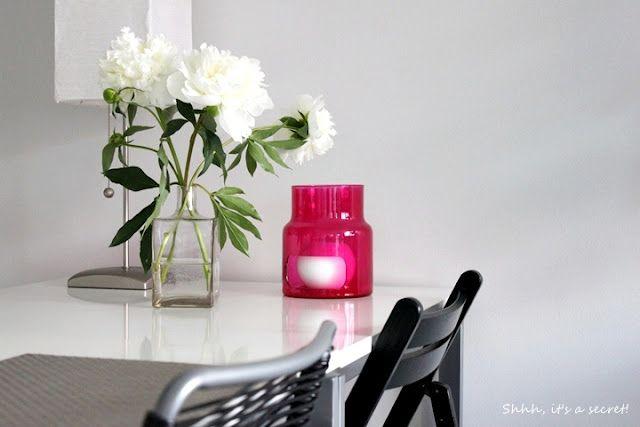 Peonies - Black - White - Pink