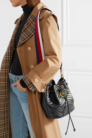 d02e4df59 Gucci - GG Marmont quilted leather bucket bag | Products | Bags ...