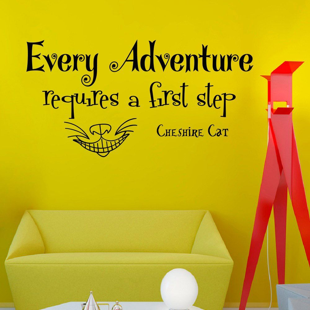 Wall Decals Vinyl Sticker Every adventure requires a first step ...