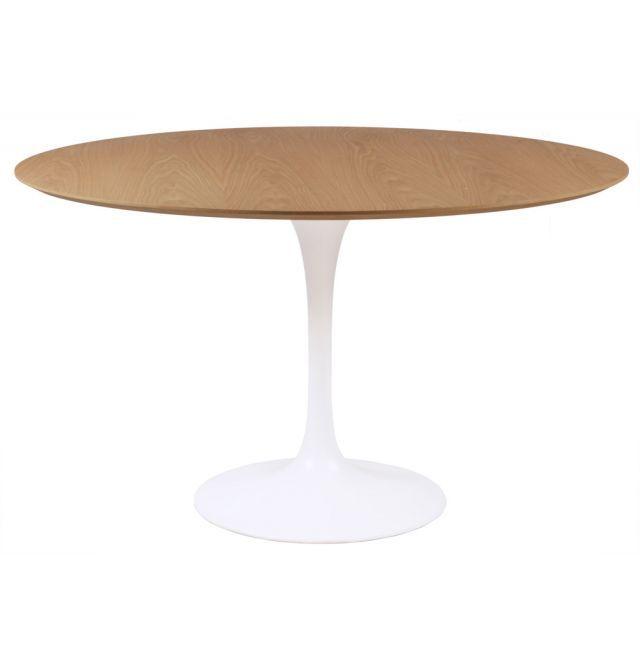 Replica Eero Saarinen Round Tulip Dining Table In Timber Tulip
