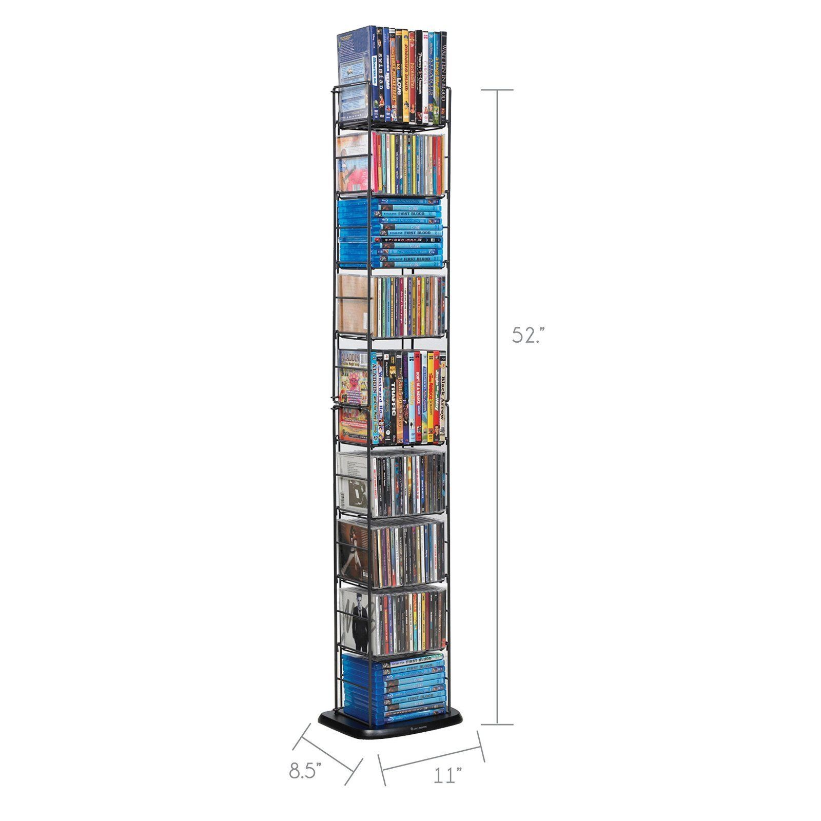 Cds Dvds Discs Rack Multimedia Storage Organizer Furniture Library