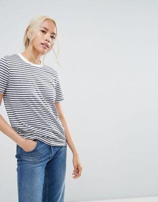 0de653d98358f3 Selected Femme stripe t-shirt