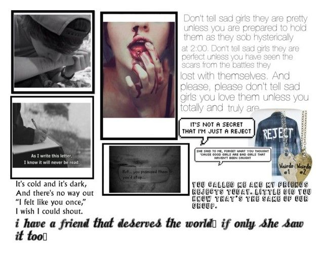 """Cause I've got a jet black heart"" by addicted-to-a-memory ❤ liked on Polyvore featuring art"