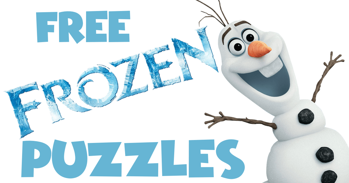 Free Frozen 1 5 Puzzles Puzzles Number Sense Olaf The Snowman