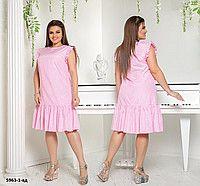 ff3c326f7e6 Платье летнее сарафан клетка свободный фасон коттон батал р48-62 ...
