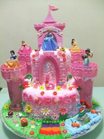Disney Princess Castle Cake Kit 6th birthday party Pinterest