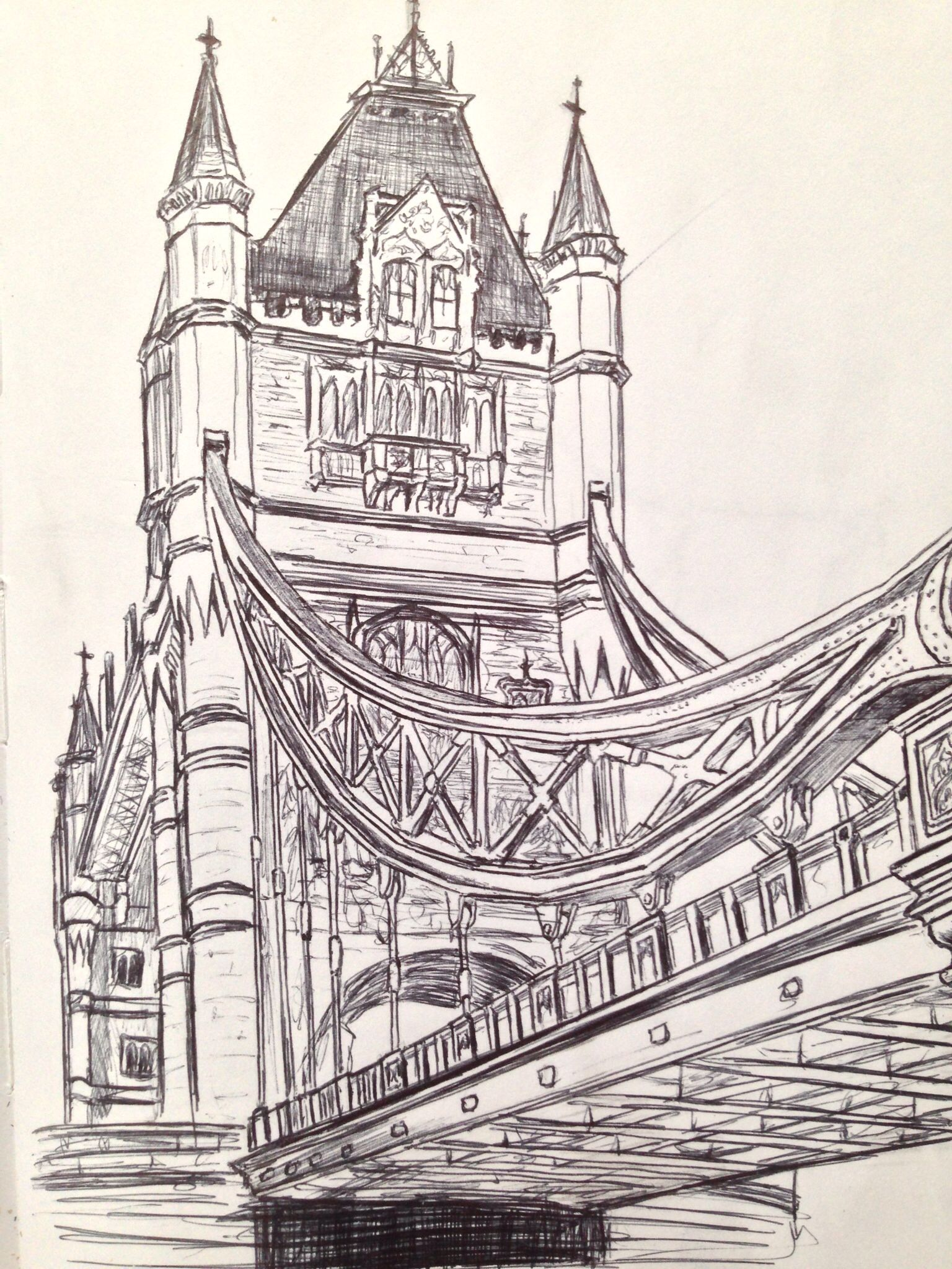 Tower Bridge Sketch Draw In 2019