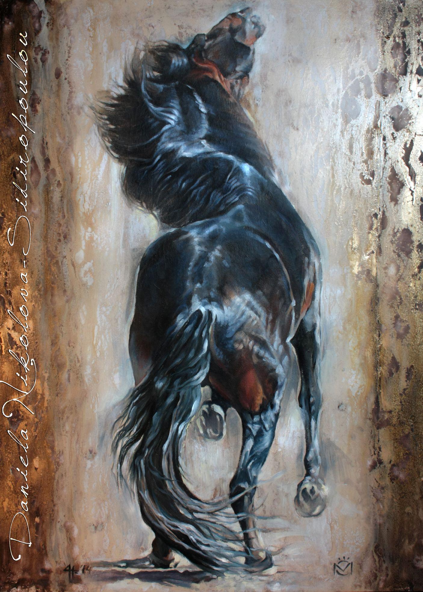 Daniela Nikolova-Sidiropoulou ''Entendido XXXIV''Caballos Mayoral 100/120cm oil on canvas