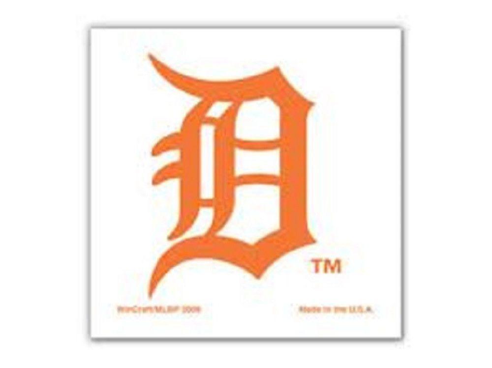 MLB Wincraft Detroit Tigers Old English D 4pk Temporary Tattoos ...