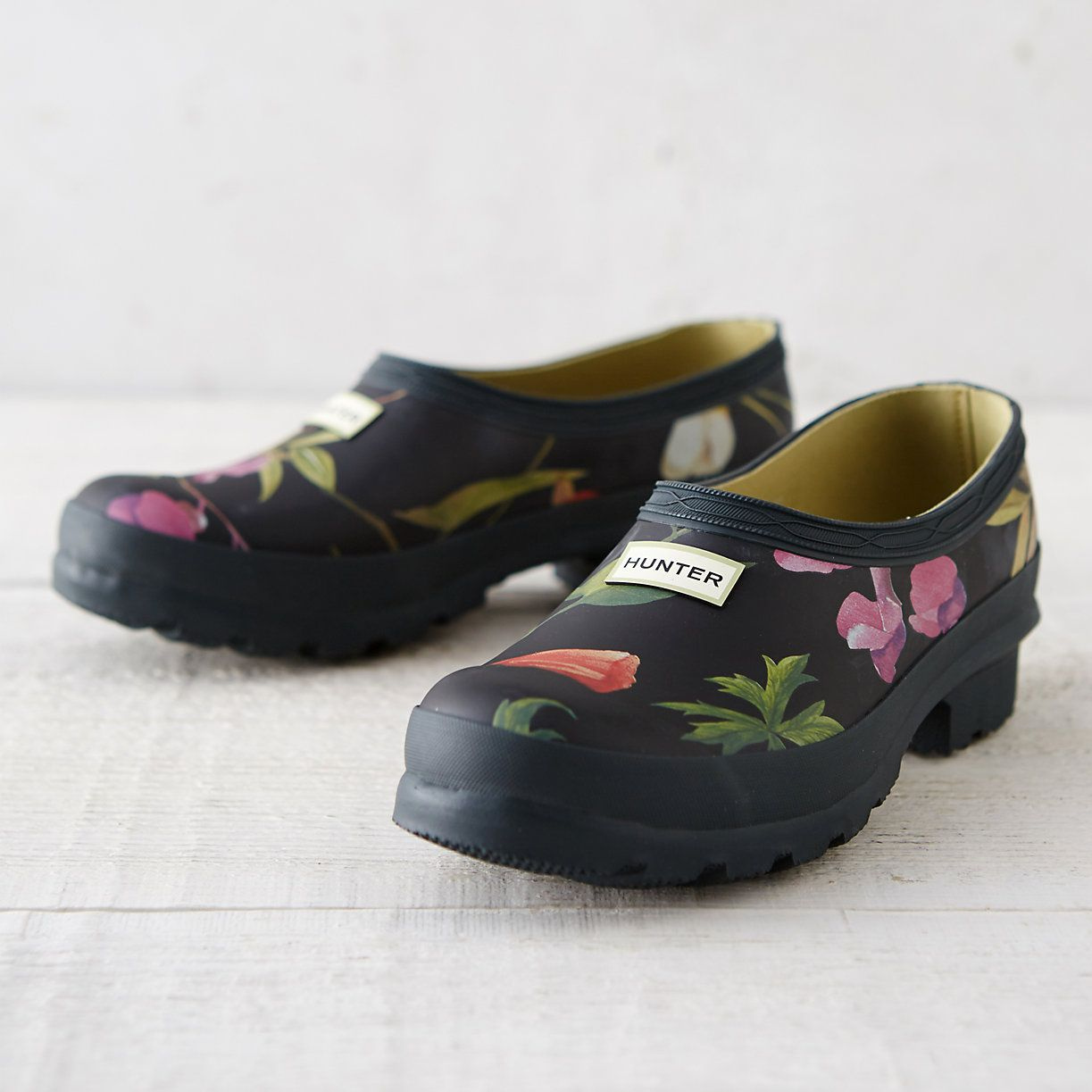 Hunter Floral Garden Clogs Gardens Fashion and Floral