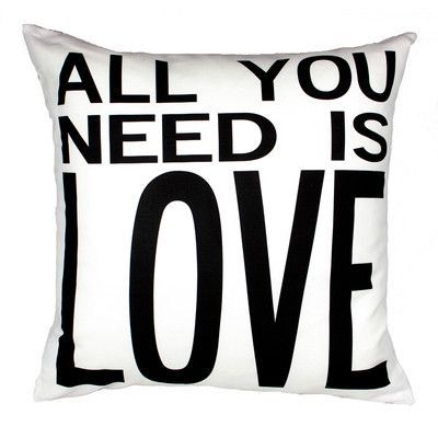 Uptown Artworks All You Need is Love Throw Pillow Color: White