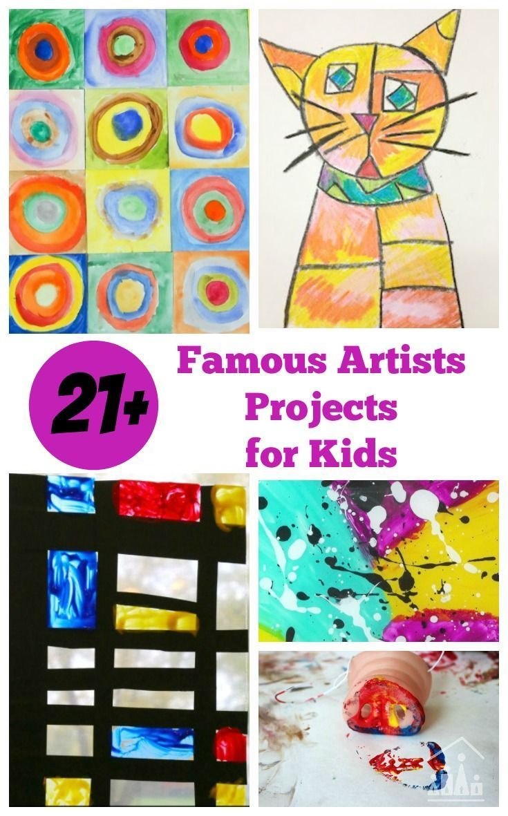 Photo of 38 Awesome Art Projects for Kids Inspired by Famous Artists – Crafty Kids at Home