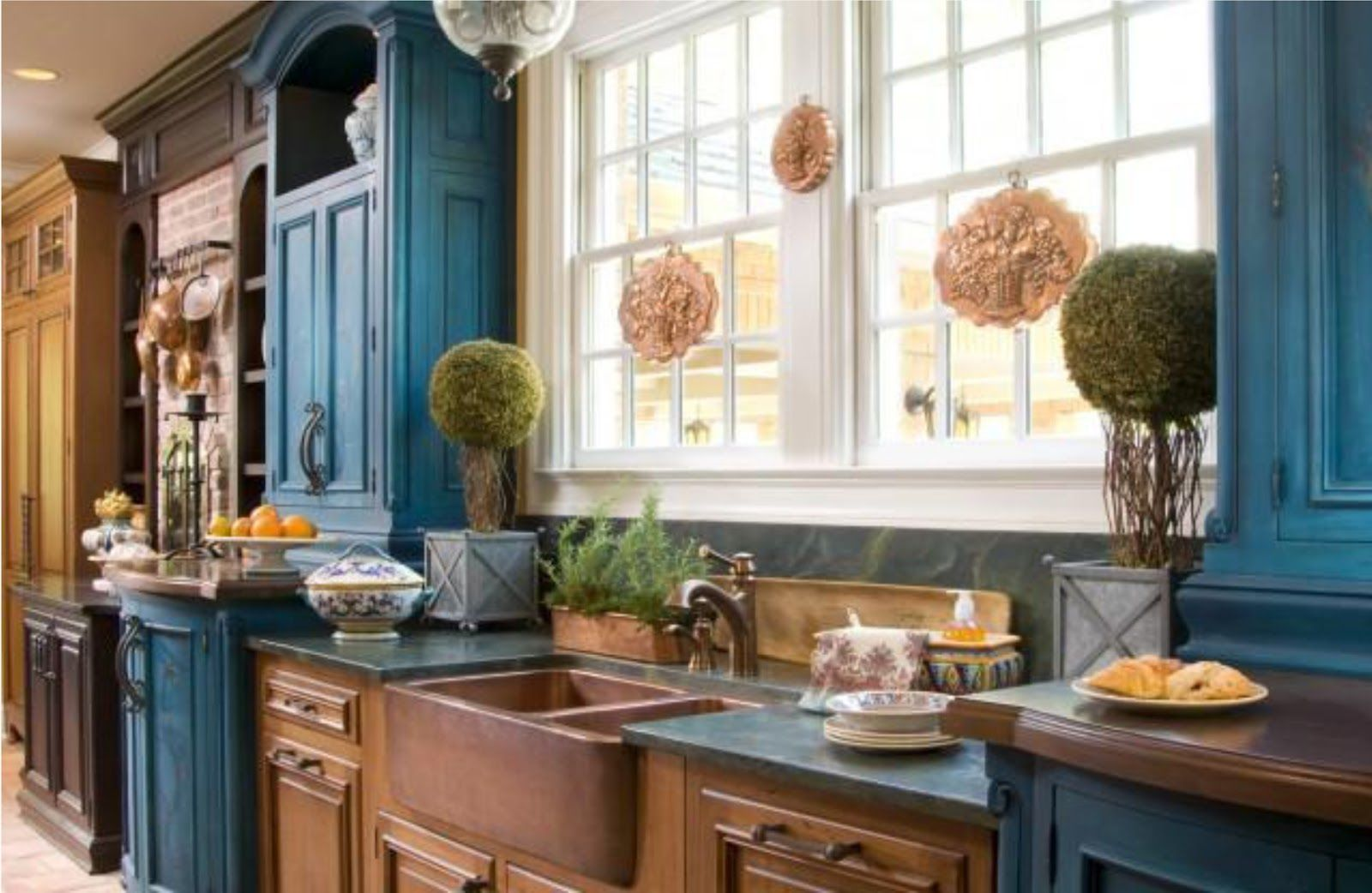 Simplifying Remodeling Two Tone Cabinet Finishes Double Kitchen Style Eclectic Kitchen Distressed Kitchen Cabinets Rustic Kitchen