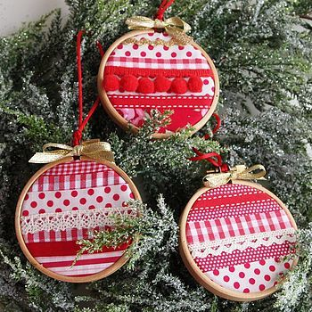 cute ornament hoops merry Pinterest Ornament, Tree decorations