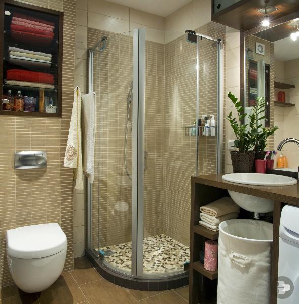 Banheiros quadrados pequenos