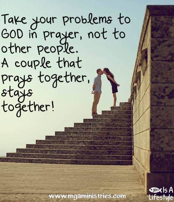 The Couple That Prays Together Stays Together