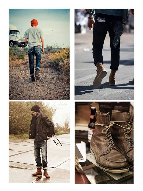 cropped jeans + worn boots