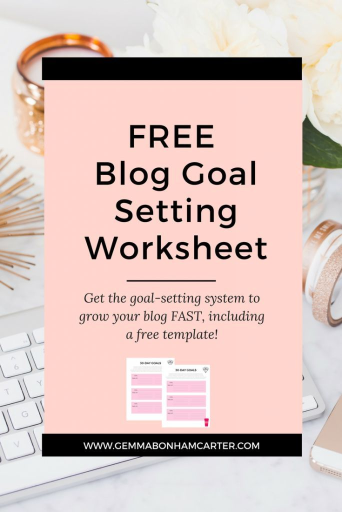 How to set blogging goals to grow your blog, including a free goal