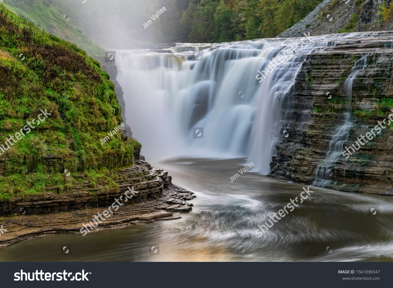 Upper Falls Close Letchworth State Park Stock Photo (Edit Now) 1561096547 #letchworthstatepark