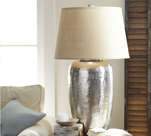 Hammered metal lamp trend spotting heavy metals metallic furniture and decor home design and decor trends