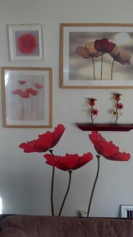 "Gorgeous ""poppy wall"" created by a friend of mine. I love it!"