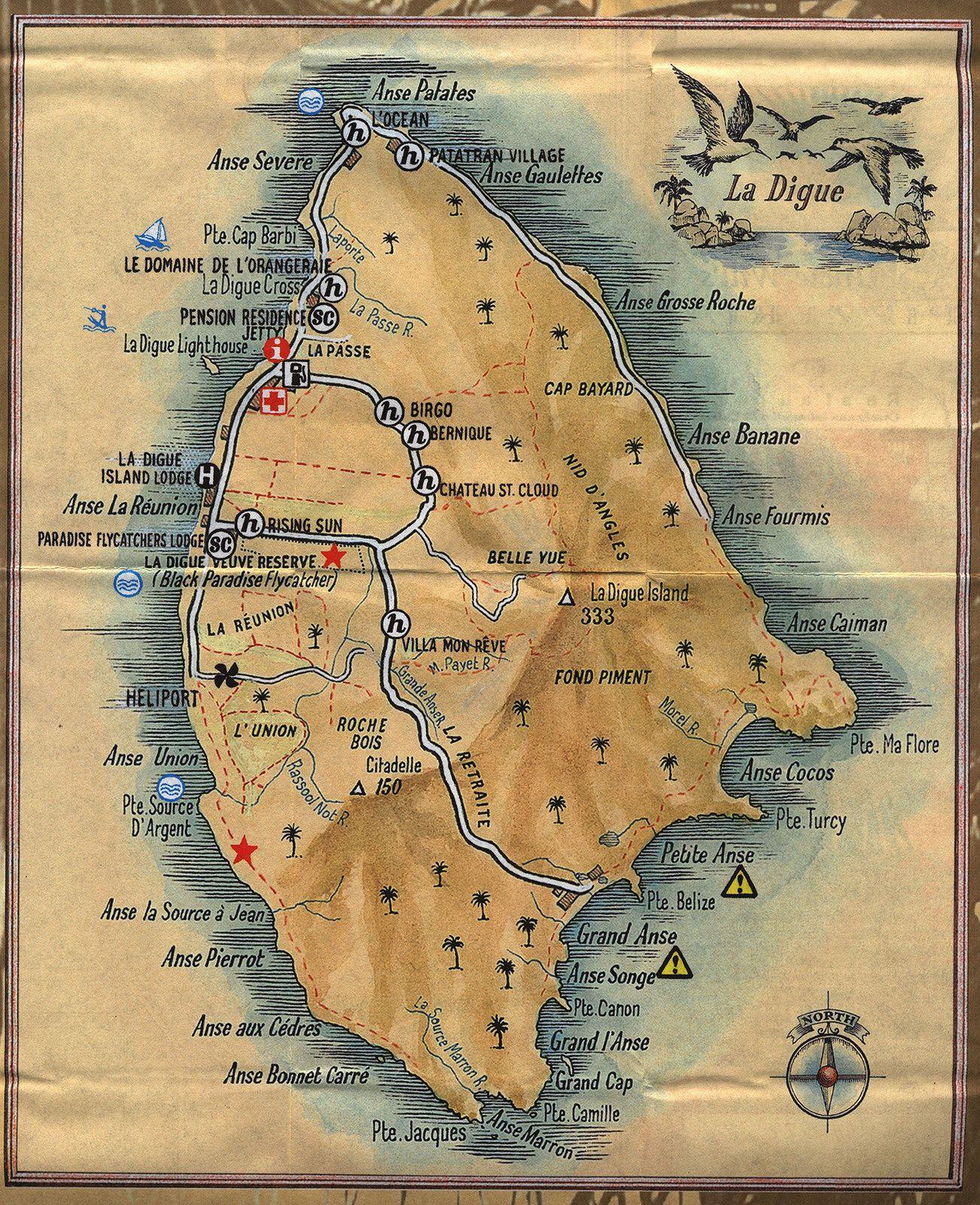 Seychelles including Maps of Victoria Mahe Praslin La Digue