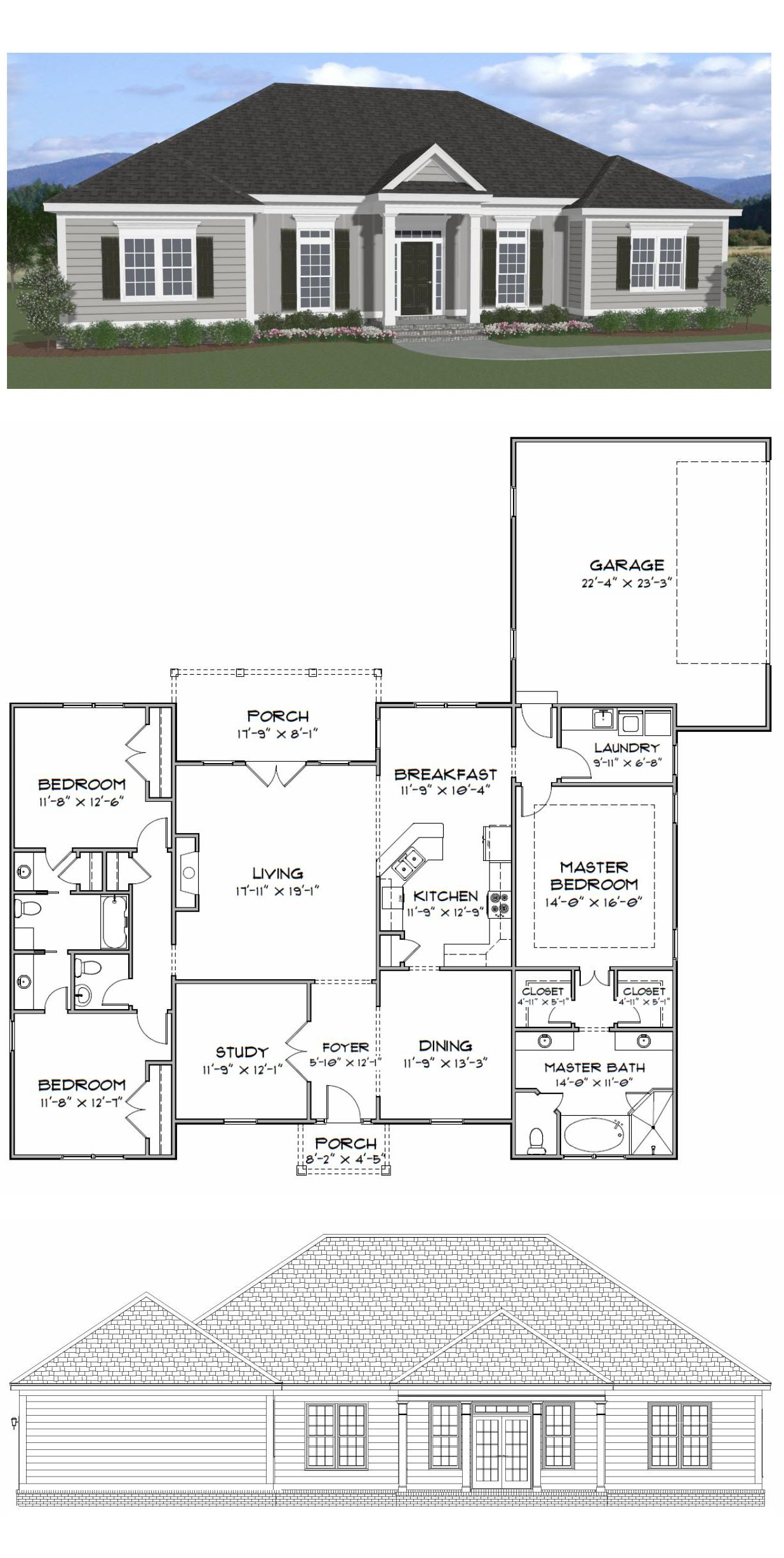 Plan Sc  Bedroom 2 5 Bath Home With A Study The Home Has 2216 Heated Square Feet This Home Plan Is Available For Purchase Online Along With