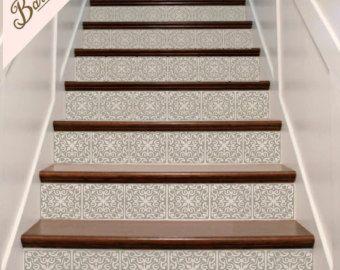 Decorative Vinyl Stair Decals . Trellis Two Decor Steps Riser ...