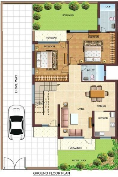 Duplex floor plans indian duplex house design duplex for Duplex floor plans india