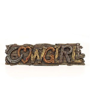 M & F Western Products, Inc. \'Cowgirl\' Wall Sign | Playrooms ...