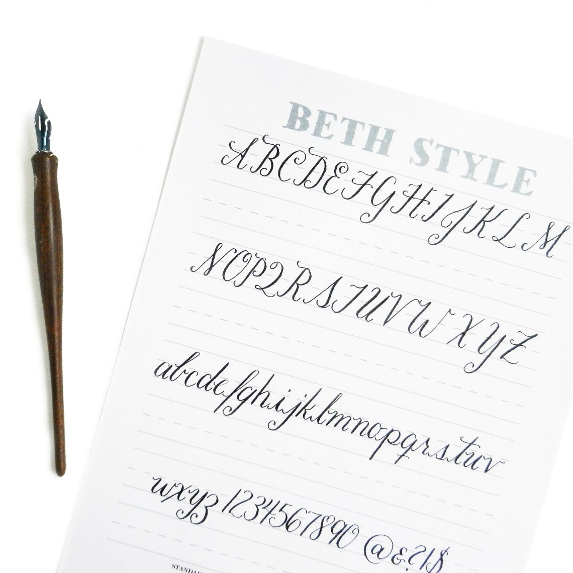 Beth Style Free Calligraphy Worksheet | Kalligraphie, Handschrift ...