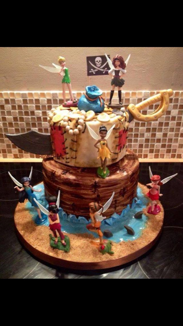 Disney Fairies The Pirate Fairy Themed Cake