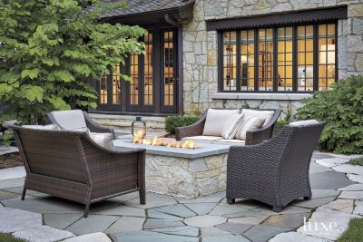 ~ 1920s #Chicago area English Cotswold-style dwelling's transitional style backyard patio ~   #design #exteriors #homedecor