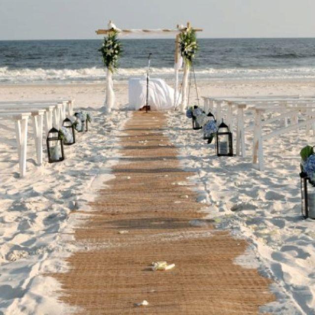 Simple Beach Wedding Ideas: 10.6.12 My Burlap Beach Wedding In