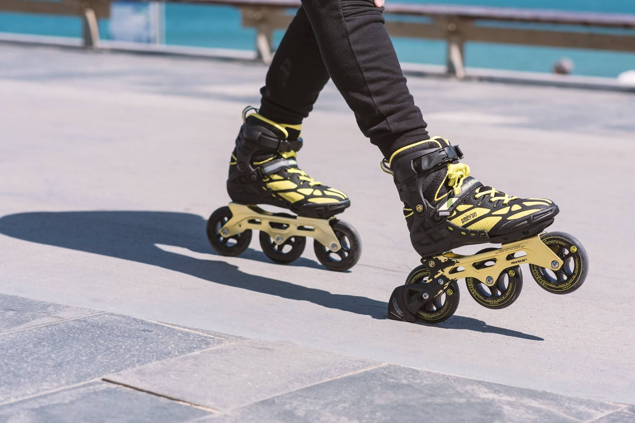Skate Fast Stop On Point The Powerslide Omicron Triskates Come Stock With Our Height Adjustable Braking System The Habs T Inline Skating Skate Skateboard