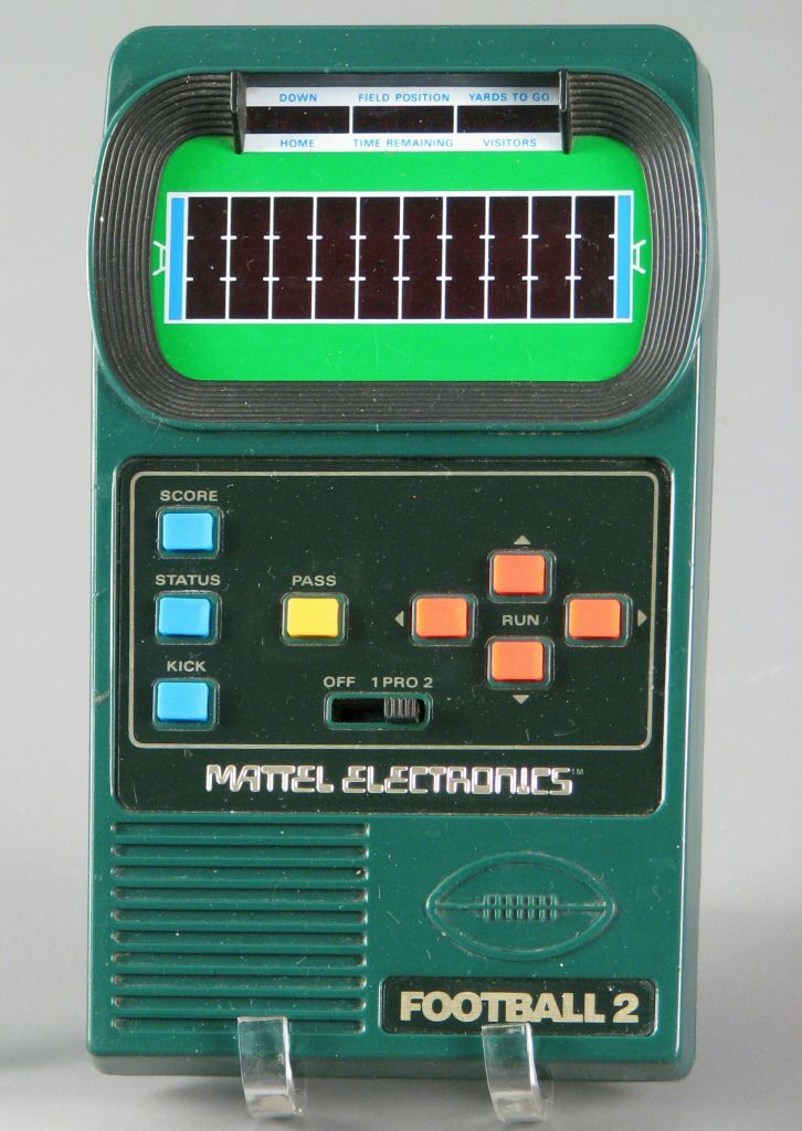 Mattel Electronics Football 2 - electronic football game allowed - foot ball square template