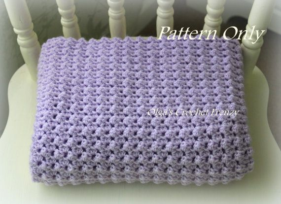 Crochet Baby Blanket Pattern, Baby Afghan, Easy to Make, For Baby ...