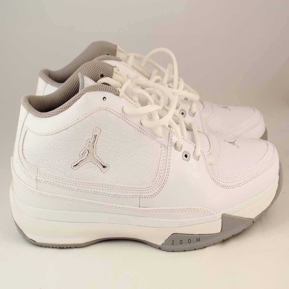 new concept 4d121 7387a Nike Air Jordan Team ISO Low Mens White Metallic Silver Shoes Sz 8 -  440567-101
