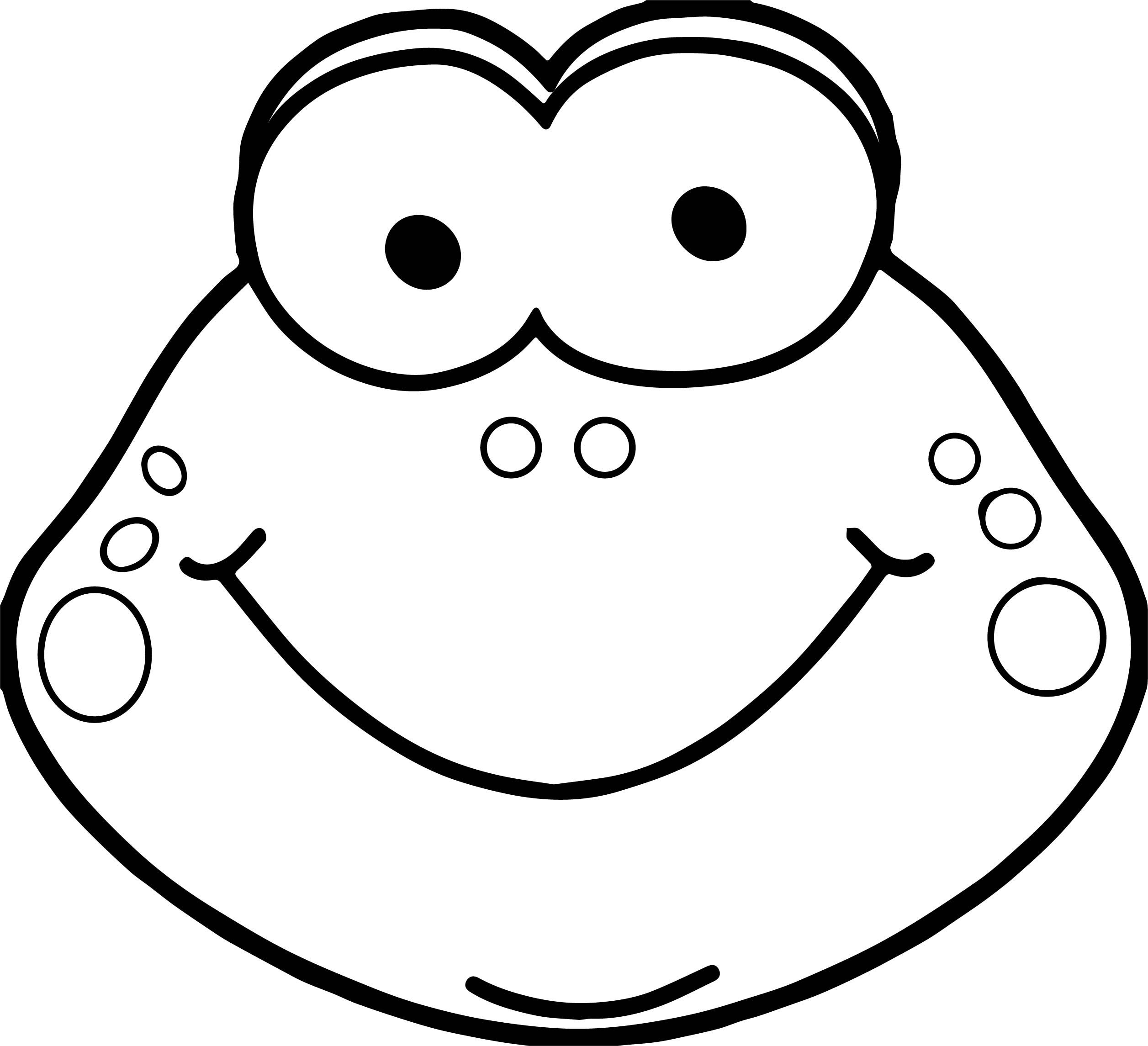Nice Cute Frog Head Coloring Page With Images Cute Frogs
