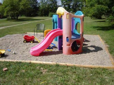 pea gravel playground playset pea gravel play area delivered that proved to be the most popular featureof play area