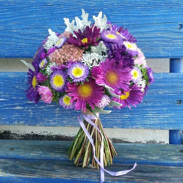 Астры букеты на 1 сентября, цветы